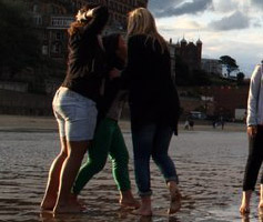 English students on Scarborough Beach