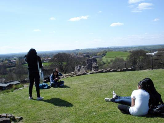 Relaxing at Pickering Castle
